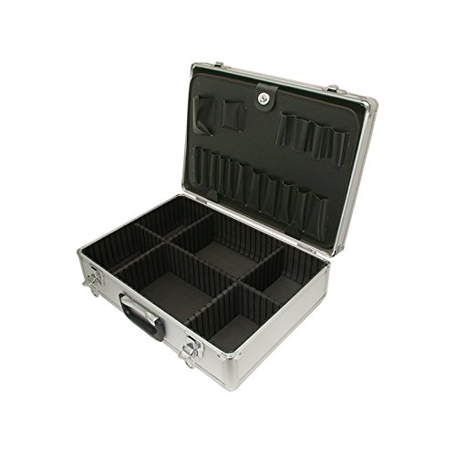 SRA Cases EN-AC-FG-A022 Silver Aluminum hard case, 18.1 x 13 x 6 Inches, - Aluminum Case Hard