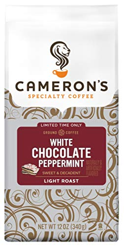 Cameron's Coffee Holiday Roasted Ground Coffee Bag, Flavored, White Chocolate Peppermint, 12 -
