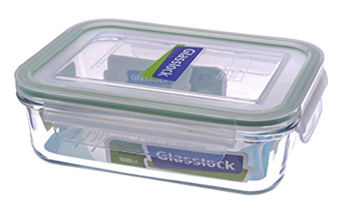 Rectangular Tempered Glass Food Container 1000ml RP533 - Gla