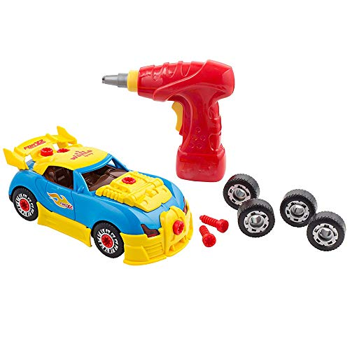 Big Mo's Toys Build Your Own Race Car - STEM Toy Racing Car for Kids Gift