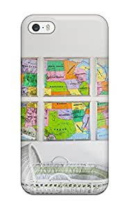 New Arrival White Nursery With Colorful Wall Map Artwork NQN-385FSEoFUkS Case Cover/ 5/5s Iphone Case