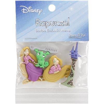Dress It Up 7739 Disney Button Embellishments, Rapunzel