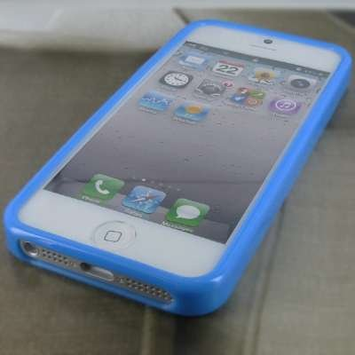 EMPIRE Flexible (Type X) Poly Skin Light Bleu Case Étui Coque for Apple iPhone 5 / 5G