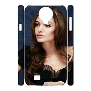 2015 popular 3D Bloomingbluerose Angelina Jolie Beautiful Samsung Galaxy S4 Cases, Non Slip Case For Samsung Galaxy S4 I9500 {White}