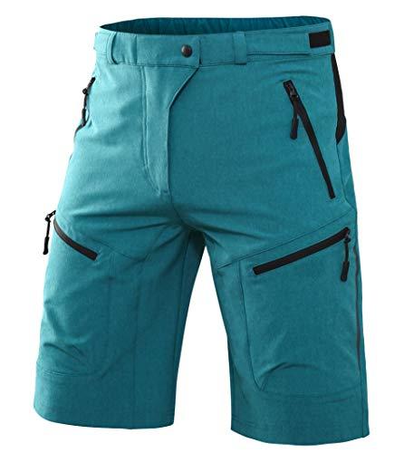 Wespornow Men's-Mountain-Bike-MTB-Cycling-Shorts (Blue, L)