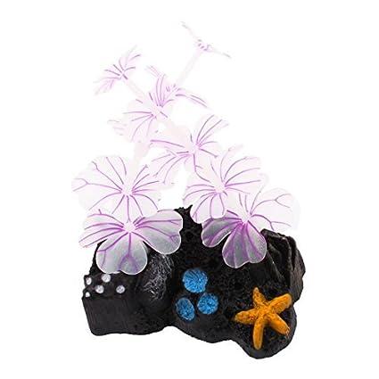 Amazon.com : eDealMax acuario Artificial que brilla rocalla Coral ...