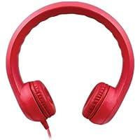 HamiltonBuhl  KIDS-RED Hamilton Buhl Flex-Phones Foam Headphones, Red, kindergarten Grade to 3 Grade
