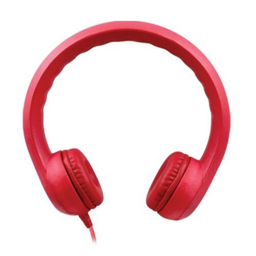 HamiltonBuhl  KIDS-RED Hamilton Buhl Flex-Phones Foam Headphones, Red, kindergarten Grade to 3 - Hamilton City Kids