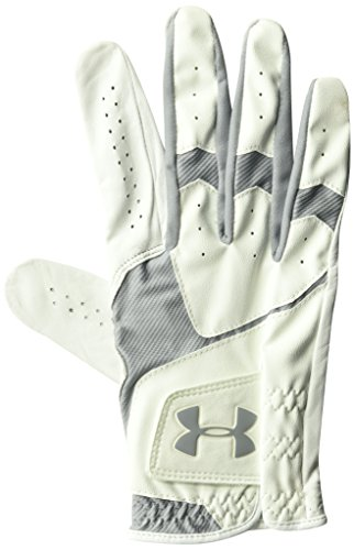 Under Armour Men's CoolSwitch Golf Glove, White /Steel, Right Hand Medium Large