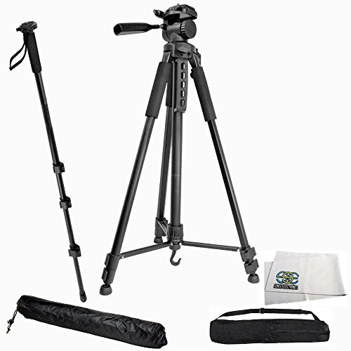 Professional 75-inch Tripod 3-way Panhead Tilt Motion with