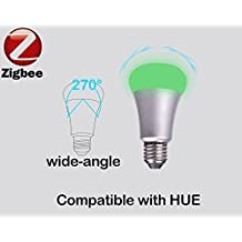 Zemismart RGBW E26 E27 7W ZigBee Smart Bulb Compatible With Hue bridge1.0 and 2.0 by Wireless Hue APP Control