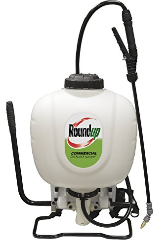 Pump Poly 4 Gallon Piston (Roundup 190426 Commercial Backpack Sprayer for Professionals Applying Weed Killer and Fertilizer, 4 gallon)