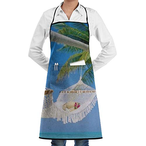 Home Depot Hammock - Summer Hammock Print Bib Aprons Adjustable Home Depot Apron Kitchen Chef Apron with Pockets for Women and Men