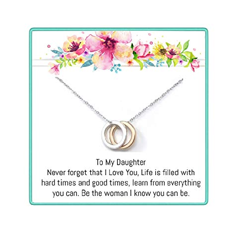 OnePurposeGifts to My Daughter Gifts Daughter Birthday Gifts Sweet 16 Gifts Graduation Gift Gifts for her (Gold/Silver) (Sweet 16 Birthday Gifts For Your Best Friend)
