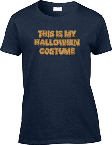 (Blittzen Womens/Ladies This is My Halloween Costume - Funny, XL, Navy)