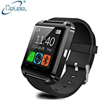 Relee Fitness Tracker Watch,Activity Tracker With Smart Watch for Kids Women Men Phone Mate with Iphone Android Samsung HTC LG (Black)