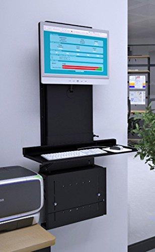 Amazon Com Versa Tables Ultra Slim Adjustable Wall Mounted Desktop