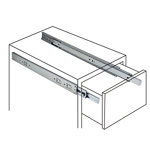 Gobrico 22-Inch Heavy Duty 100 Lb. Full Extension Ball Bearing Drawer Slides Soft Close Rail Runners 1Pair by Gobrico (Image #7)