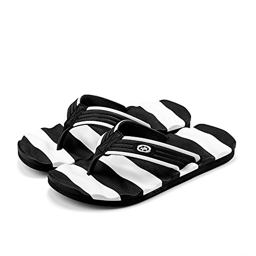 Wear Resistant White Leisure Flip Size Black 7 Sandals amp;Baby Color Beach Thong 5MUS Slipper Massage Men's Sunny Flop wPq06vXU