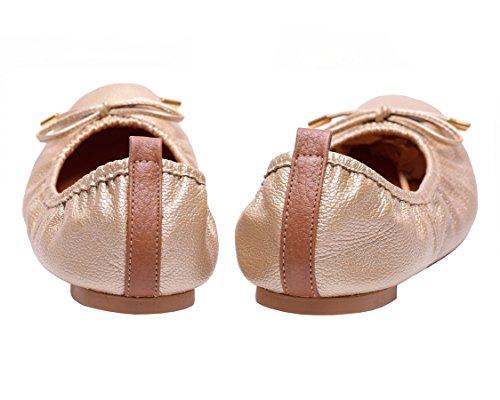 Appartamenti Da Donna In Pelle Colombiana Ballerine Da Donna Vidaleather | Zapatillas De Mujer Oro