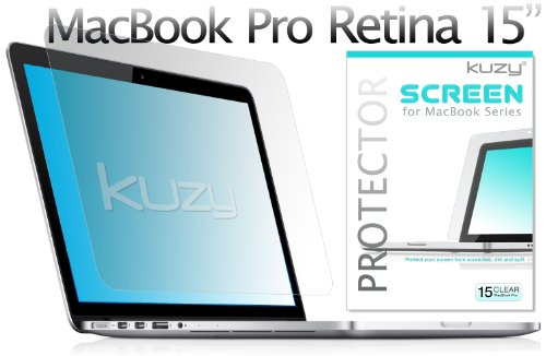 Kuzy Clear Retina 15-inch Screen Protector Film for Apple MacBook Pro 15.4 with Retina Display (Model: A1398) - Clear