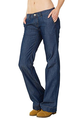 Lightweight Low Rise Jeans - Low Rise Lightweight Flared Bellbottom Jeans - Dark Blue (US12 / UK14)