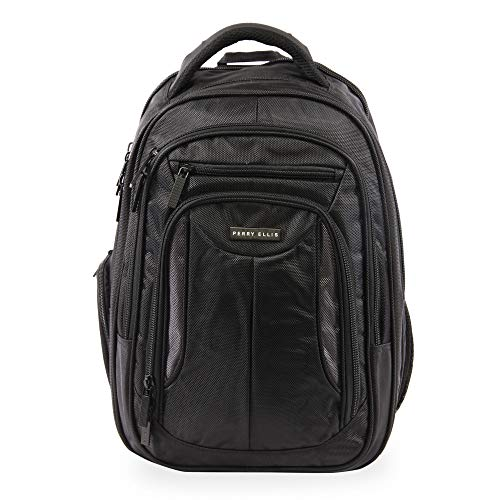 41osPUmXQ6L - Perry Ellis M160 Business Laptop Backpack, Black