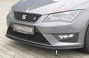Rieger Frontal Alerón Espada Negro Mate para Seat Leon FR (5 F)/Cupra (5 F): 01.13 - 12.16 (hasta Facelift): Amazon.es: Coche y moto