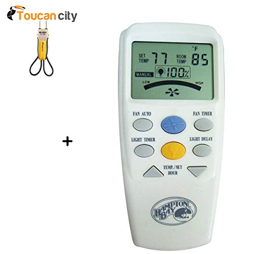 Toucan City Voltage Tester and Hampton Bay LCD Display Thermostatic Remote Control 60001]()
