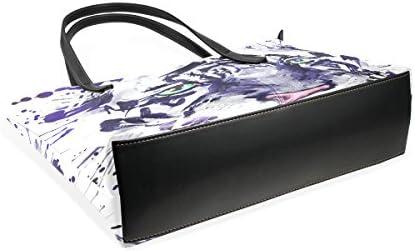 COOSUN Weiß Albino Tiger Graphics PU Leder Schultertasche Handtasche und Handtaschen Tasche für Frauen