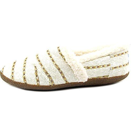 Pantofola Da Donna Bianca / Oro