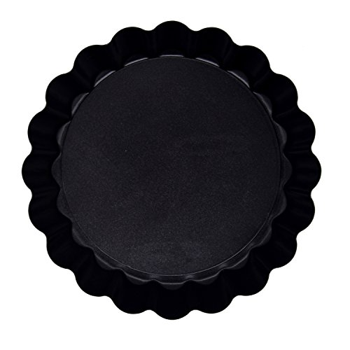 Richohome 4 Inch Quiche Pans Non Stick Removable Loose Bottom Mini Tart Pans, Pie Pan-Pack of 6 by Richohome (Image #1)