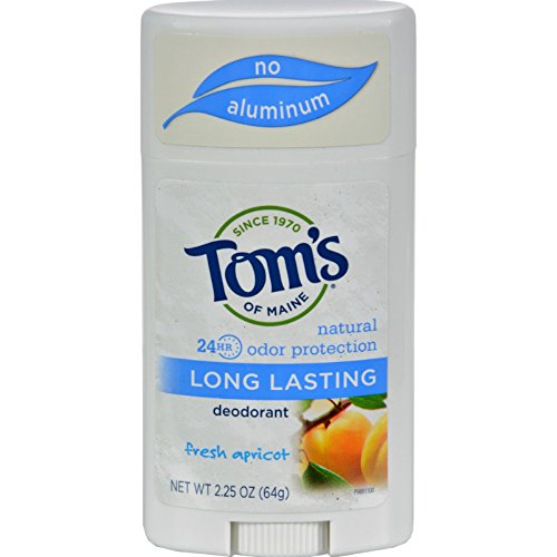 Tom's of Maine Natural Deodorant Stick, Aluminum Free, Long Lasting, Fresh Apricot, 2.25 Ounce