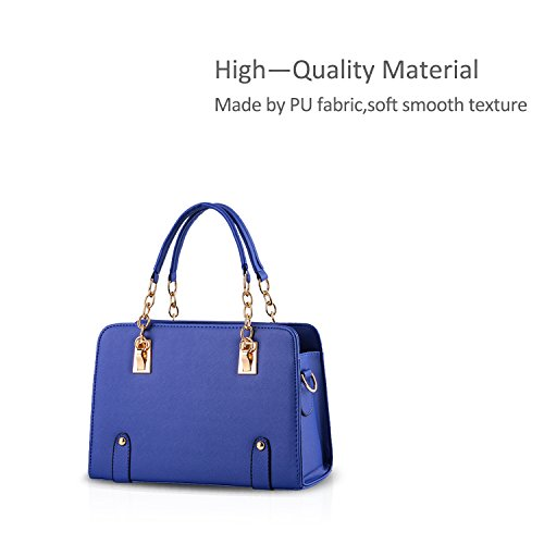 new amp;DORIS NICOLE bag purse bag Blue chain women fashion Navy shoulder messenger d55n4xrfZw