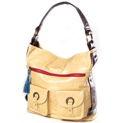Clava Leather Glazed - Clava Mimi Messenger Hobo, Glazed White