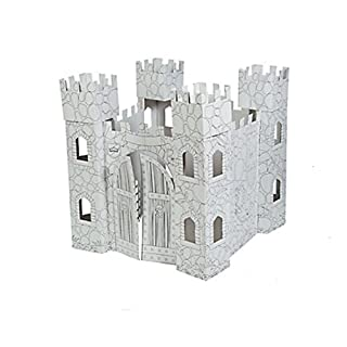 FE Color Your Own Castle Playhouse - Folds for Storage - Great for Play and Crafts