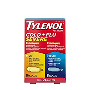 Well-Being-Matters 41osSLmDuLL._SS300_ Tylenol Cold + Flu Severe Day & Night Caplets for Fever, Pain, Cough & Congestion Relief, 24 Count