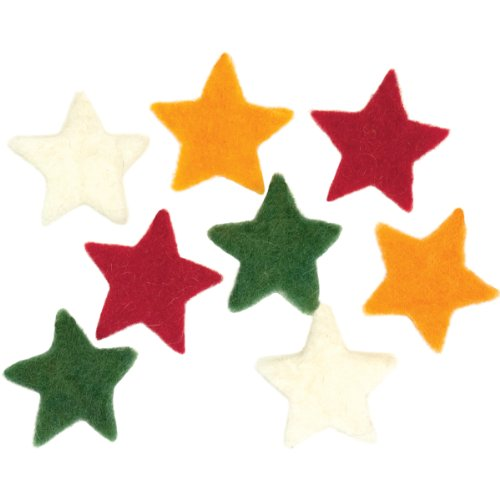 Dimensions Needle Felting Embellishments, Small - Felt Wool Stars 100%