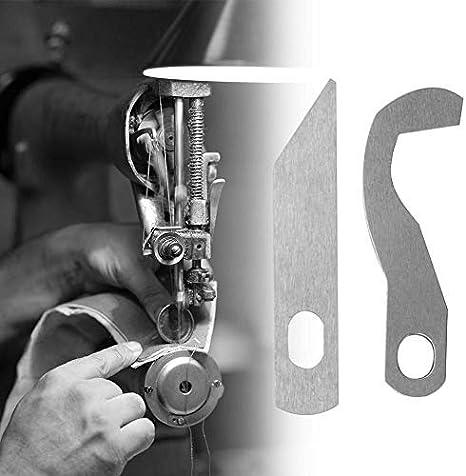 HEEPDD Cuchillo Overlock para máquina de Coser, Cuchillo Superior para máquina de Coser XB0563001 Cuchillo Inferior X77683001 para Brother 0304D