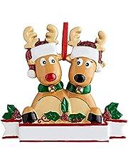 Christmas Tree Decorations Ornaments,Reindeer Ornaments for Christmas Tree 2021,Reindeer Tree Ornaments,Wooden Reindeer Christmas Decoration,Personalized Reindeer Tree Ornaments for Christmas