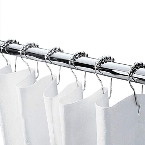 Aibee Rustproof Shower Curtain Rings 100 Stainless SteelDouble Glide