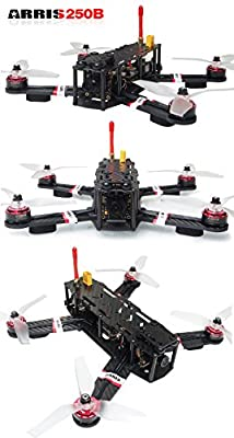 ARRIS X-Speed 250B V2 250 FPV Quadcopter Racing Drone RTF W/ Flycolor Raptor 390 Tower 4-in-1