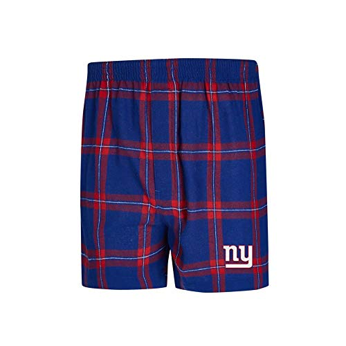 Concepts Sport New York Giants NY Men's Boxers Flannel Boxer Shorts (Large) ()