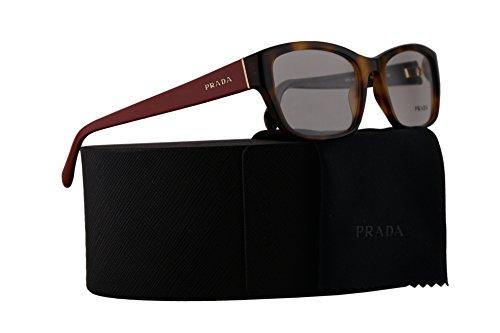 Prada PR18OV Eyeglasses 54-18-135 Havana w/Red Temples w/Demo Clear Lens TKR1O1 VPR18O VPR 18O PR - Www Frames Com Eyeglasses