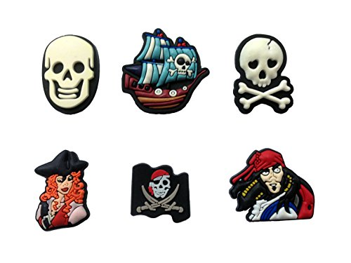 Pirates Shoe Charms 6 Pcs Set (Ben And Jerrys Halloween)
