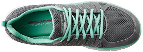 Femme Skechers Running Gris Chaussures Book Compétition Blau Gymn de Nvlb Look Synergy R7RqT0