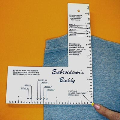 - Embroiderers Buddy Machine Embroidery Placement Aid! Adult Sizes
