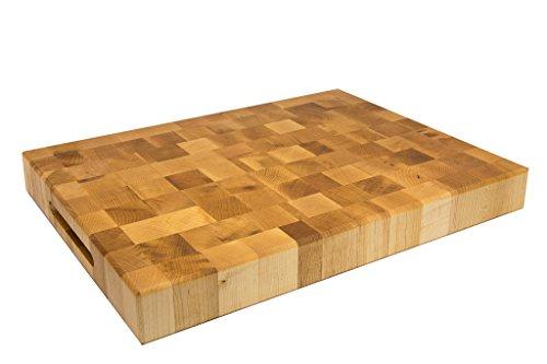 Wood Welded End Grain Reversible Butcher Block Cutting Board 2¼