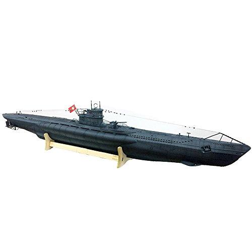 ARKMODEL German U-Boat Type VIIC Submarine 1:48 Scale Models Plastic Hobby Kit (Remote Control German Submarine)
