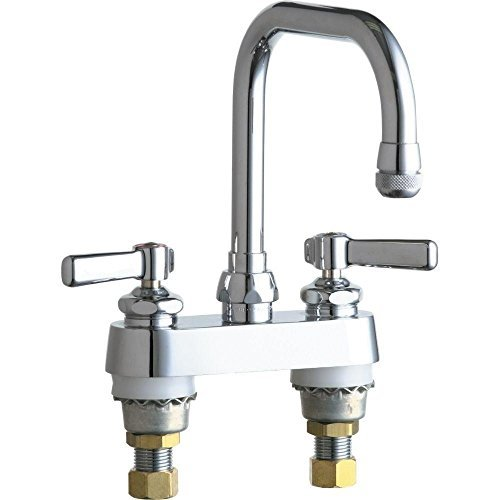 Chicago Faucet 526-ABCP 2-Handle Kitchen Faucet in Chrome with 6-1/4